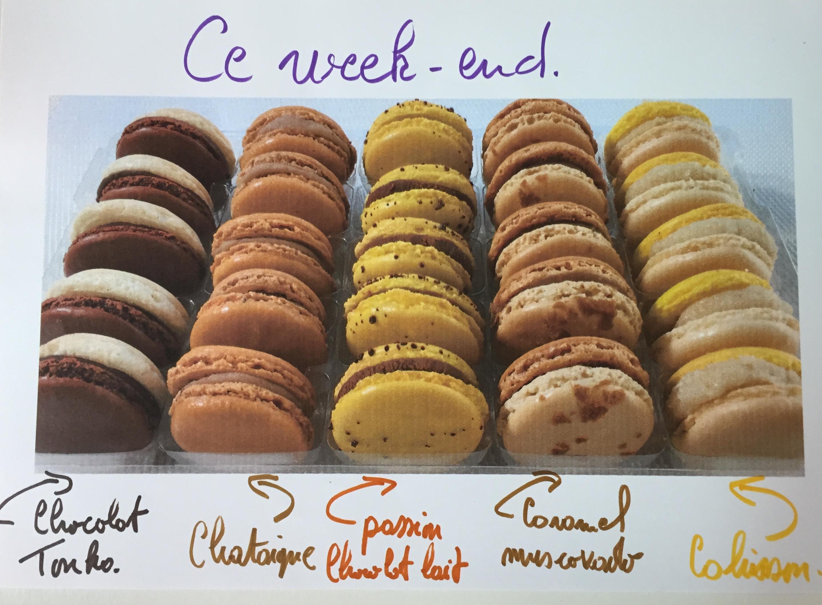 Les macarons de ce week-end